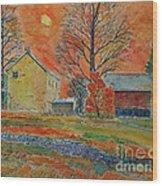 A Dover Pennsylvania Farm Wood Print