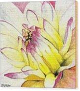 A Drop Of Yellow Wood Print