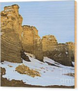 A Dusting On Monument Rocks Wood Print