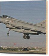 A Eurofighter F-2000 Of The Italian Air Wood Print