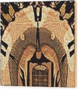 A Facade Wood Print