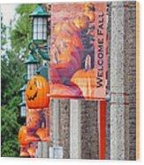 A Fall Welcome Wood Print