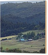 A Farm In The Valley Img 6794 Wood Print