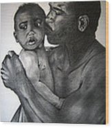 A Fathers Love Wood Print