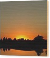 A Flawless Warped Sunset Wood Print