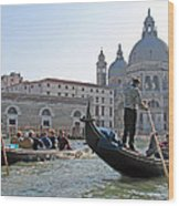 A Float In Venice Wood Print