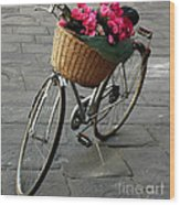 A Flower Delivery Wood Print