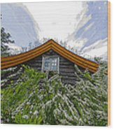 A Flowery House In Norway Wood Print