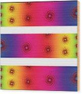 A Fractal Spectrum Wood Print
