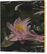 A Fractual Lily Wood Print