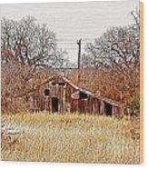 A-frame Barn - No.745 Wood Print