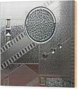 A Frosted Glass Window With An Interesting Pattern Wood Print