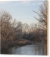 A Frosty Morning On The Elkorn Creek Wood Print