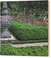 A Garden View Wood Print