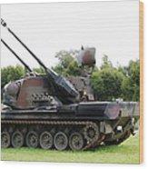 A Gepard Anti-aircraft Tank Wood Print by Luc De Jaeger