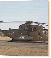 A German Ch-53gs Helicopter At Stendal Wood Print