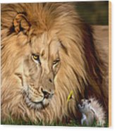 A Gift For Cameron Wood Print by Big Cat Rescue