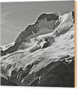 A Glacier In Jasper National Park Wood Print