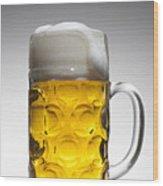 A Glass Mug Of Beer Wood Print