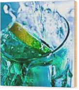 A Glass Of Water Wood Print