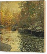 A Golden Autumn At The Unami Wood Print