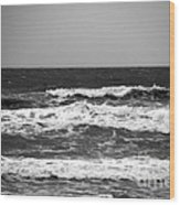 A Gray November Day At The Beach - II  Wood Print