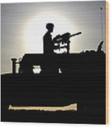 A Gunner Mans An Mk-19 40mm Machine Gun Wood Print