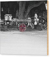 A Hawker On The Street Wood Print