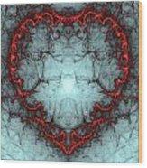 A Heart Afire Wood Print