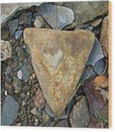 A Heart Of Stone Wood Print