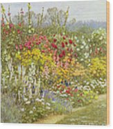 A Herbaceous Border Wood Print