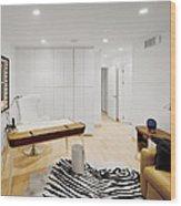 A Home Office. A Black And White Zebra Wood Print