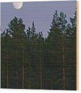 A Huge Moon, With Features Clearly Wood Print