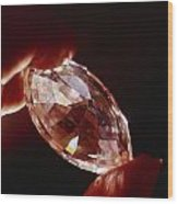 A Huge Nine-carat Diamond Glistens Wood Print