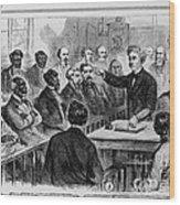 A Jury Of Whites And Blacks Wood Print