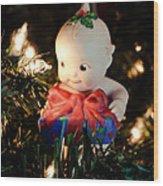 A Kewpie Christmas Gift Wood Print