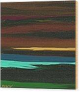 A Lanscape Wood Print