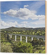 A Large Highway Bridge An Elevated Wood Print by Don Mason
