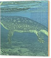 A Late Devonian Period Ichthyostega Wood Print