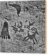 A Library Of Petroglyphs - Atlatl Rock Wood Print