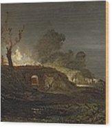 A Lime Kiln At Coalbrookdale Wood Print