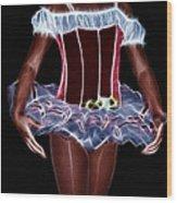 A Little Lady In A Tutu Wood Print