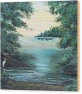 A Lone Egret Wood Print