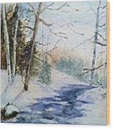 A Lovely Winter's Day Wood Print