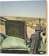A M240b Medium Machine Gun Wood Print