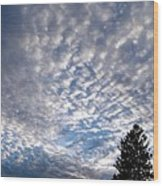 A Mackerel Sky Wood Print