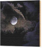 A Magical Moon Wood Print