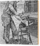 A Man And His Trade - Farrier Art Print Wood Print