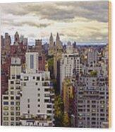 A Manhattan View Wood Print