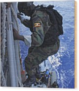 A Marine From The Uganda People's Wood Print